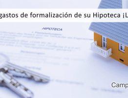 gastos de formalizacionde la hipoteca