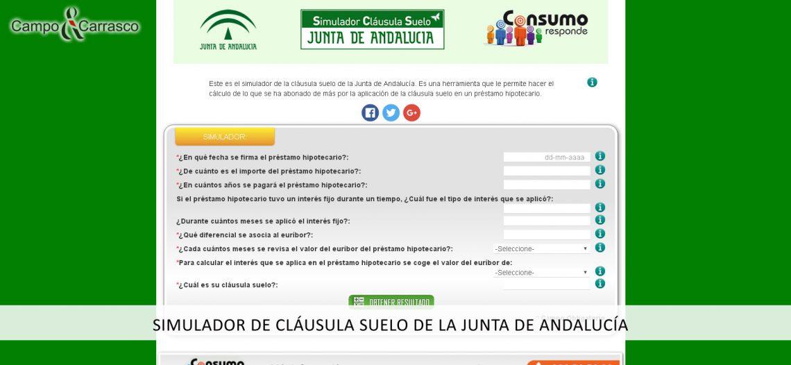 Simulador De Cl Usula Suelo Abogados Sevilla Campo