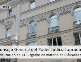 juzgados especializados en clausulas suelo